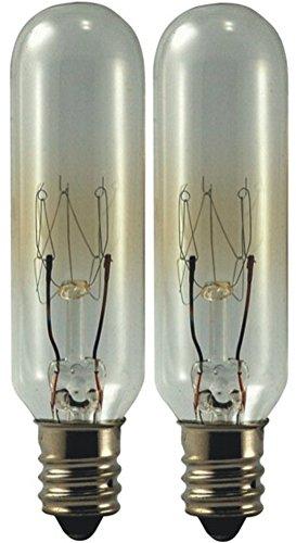 EiKO 15T6C145V Model 15T6C-145V Miniature Halogen Bulb (2-Pack), 145 Voltage Rating, 15 Watts, 0.1 Amps, Candelabra Screw (E12) Base, T-6 Bulb, C-7A Filament, 90 (Halogen Miniature Bulb)