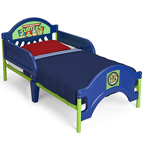 Delta Children Plastic Toddler Bed, Nickelodeon Ninja Turtles