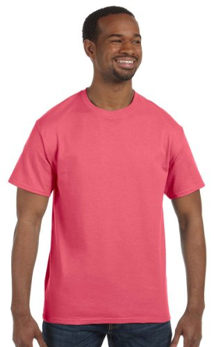 Gildan mens Heavy Cotton 5.3 oz. T-Shirt(G500)-CORAL SILK-XL Silk Cotton Crewneck T-shirt