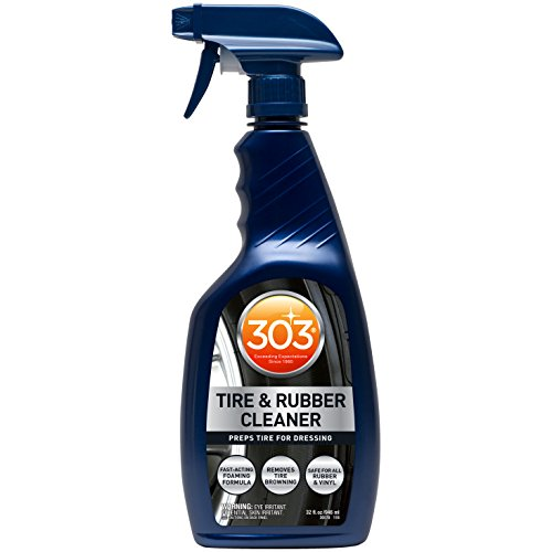 303 Products Rubber cleaner & rejuvenator dressing conditions cleans and protects tires, rubber, car mats, automotive floor mats 32oz