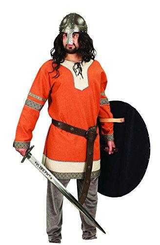 Museum Replicas Viking Noble's Cotton Tunic Medieval Men's Dark Ages Halloween Costume (S/M, Rust Orange) ()