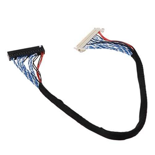 HOWWOH Hooks LVDS Cable D8 FIX-30P-D8 FIX 30 Double Pins 2ch 8bit 1.0mm Pitch 250mm 500mm 17-21inch LCD Display Panel Screen Controller