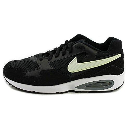 Nike Donna Air Max St Ankle-alta Scarpa Da Running In Pelle Nero / Bianco-grigio Freddo
