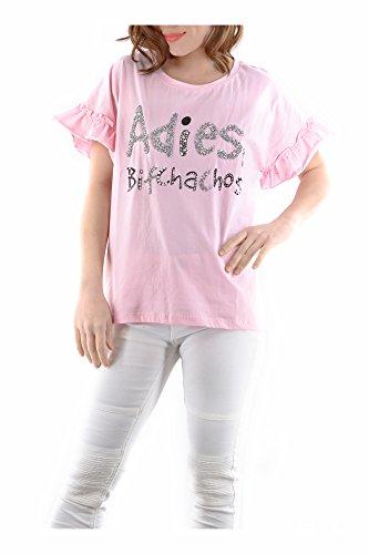 Promotion Tendresse Plaine art Filles 21 Plusieurs Élégant Shirts Cg002 Chemises Fashion Abbino Tops Automne Rose Branché Sexy M16 Doux Vente Femmes Couleurs Été Printemps Tshirts Transition HxfvnUqw