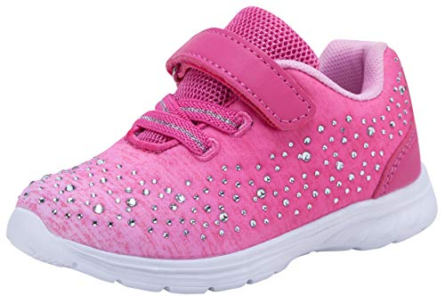G GEERS Kids Girl's Fashion Sneakers Casual Sports Shoes (10 M US Toddler,Candy Pink) -