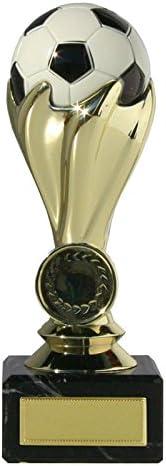 Trofeo copa fútbol con balón oro y plata: Amazon.es: Deportes y aire ...