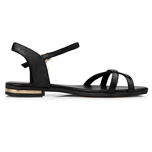 Cinturino Black Piatto Moda Donna Con Alla Sandali Cularacci Caviglia 7X6R8xqEq