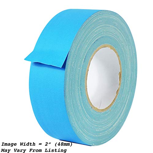(MAT Gaffer Tape Light Blue Low Gloss Finish Film - 1 in. x 60 Yards - Residue Free, Non Reflective, Better Than Duct Tape (Available in Multiple Colors))
