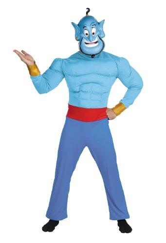 [Aladdin - Genie Adult Muscle Chest Costume] (I Dream Genie Costume)