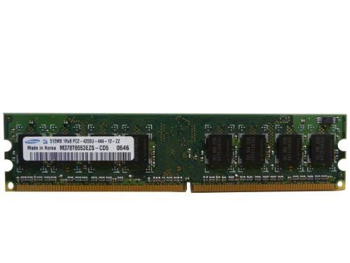 Samsung 512MB DDR2 PC2-4200U 533MHz 1Rx8 M378T6553EZS-CD5