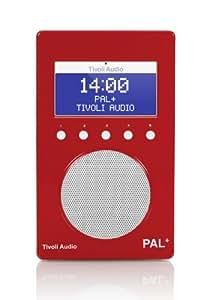 Tivoli - Radio portátil (PAL, DAB), color rojo (importado)