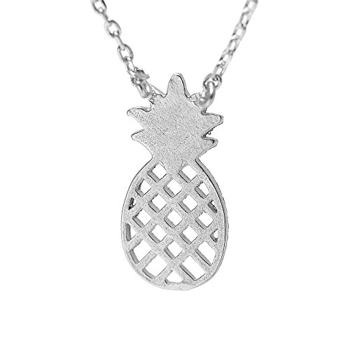 SpinningDaisy Handcrafted Brushed Pineapple Necklace