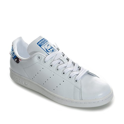 Course Chaussures Stan Bleu De Adidas Smith Blanc Negbas Blanc ftwbla UHnETUdxq