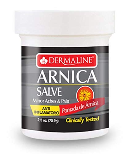 Dermaline - Arnica Salve Aches and Pain Relief Ointment - Anti Inflammatory - Soreness and Bruises