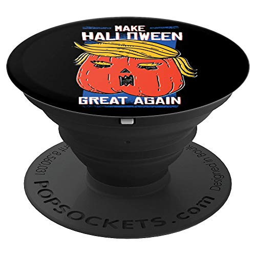 Funny Make Halloween Great Again Trump Pumpkin Head Design - PopSockets Grip and Stand for Phones and Tablets ()