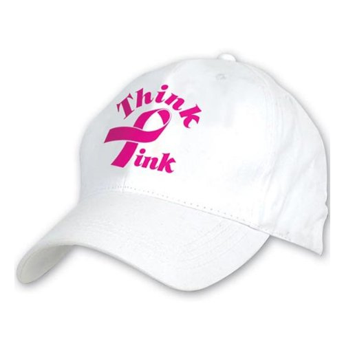 [Embroidered Think Pink Cap Party Accessory (1 count) (1/Pkg)] (Baseball Costume Accessories)