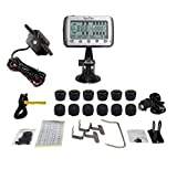 EezTire-TPMS12B Real Time/24x7 Tire Pressure Monitoring System - 12 Anti-Theft Sensors + Booster, incl. 3-Year Warranty
