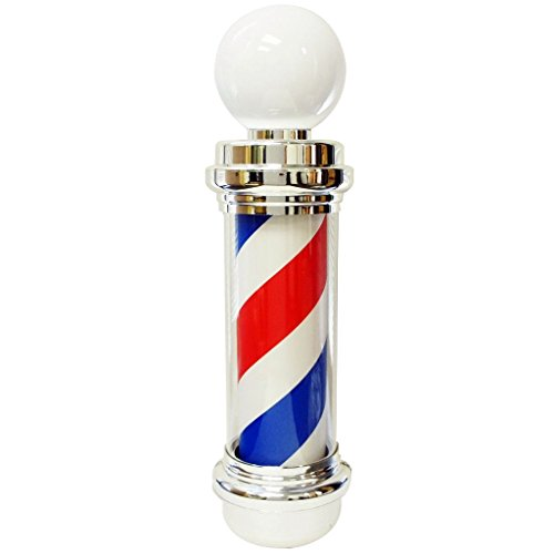 """Mane Tame 33"""" Rotating Barber Pole with LED Lamp and Acrylic Outer Cylinder. Includes Wall Mount and Permanent-Magnet Synchronous Motor 110v"""