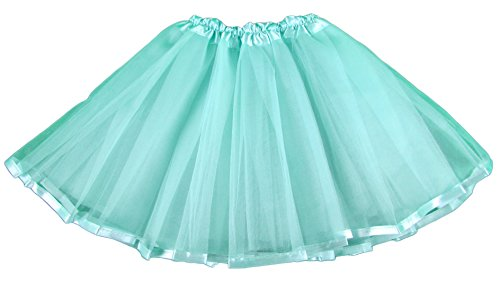 Hairbowsunlimited.com Hairbows Unlimited Aqua Ribbon Lined Basic Ballet Tutu (Lined Ribbon)