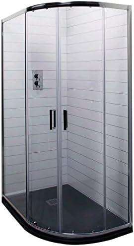 Cassellie Seis Offset - Mampara de ducha cuadrante (cristal, 1200 ...
