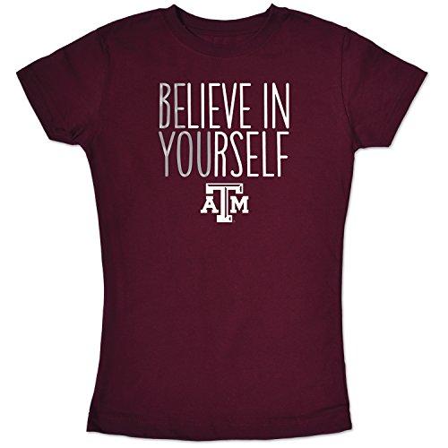 NCAA Texas A&M Aggies Girls Short Sleeve Tee, Size 7/X-Small, Maroon
