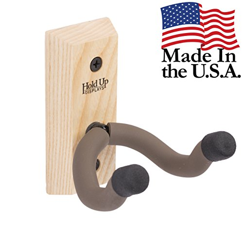 Hold Up Displays - Vertical Gun Hanger and Rifle Storage Gun Wall Holder Securely Holds Firearm and Bow - Real Hardwood Harvested in Wisconsin - Made in USA - Ash (Best Hunting In Wisconsin)