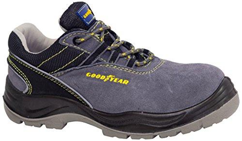Goodyear G138106C - Calzado en piel serraje, color gris