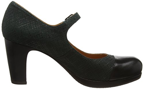 Petrol Negro Tequila Jane Mary Mihara oscuro Zapatos Chie 72502 Linnen Verde Mujer Manero vB4pn7