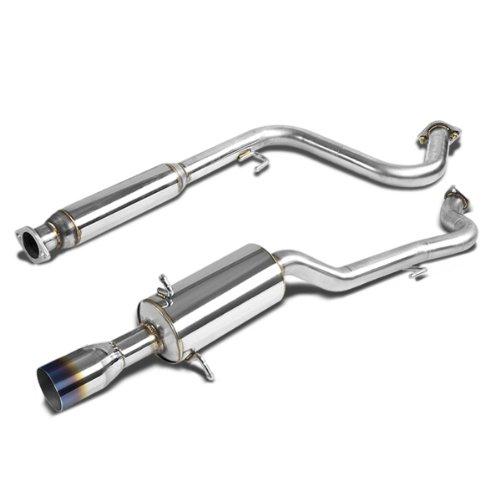 (For 05-10 Chevy Cobalt Catback Exhaust System 3.5 inches Burn Tip Muffler - LS LT LTZ 2.2L)