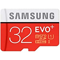 Samsung EVO Plus 32 GB MicroSDHC Class 10 Upto 95 MB/s Memory Card with SD Adapter