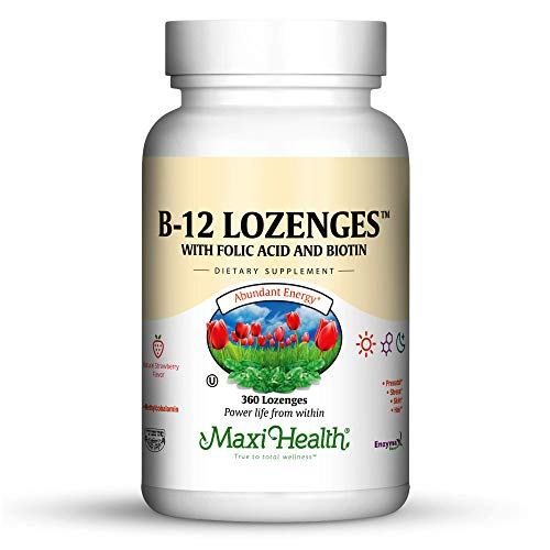 Maxi Health Vitamin B-12 Lozenges, Strawberry, 360 Count