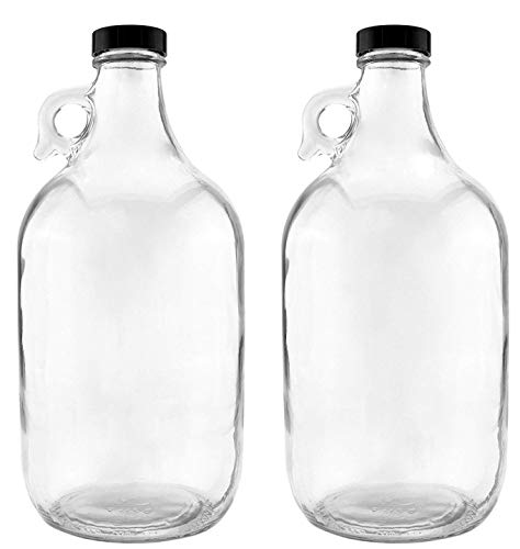 NiceBottles - Glass Half Gallon Jug, Pack of 2