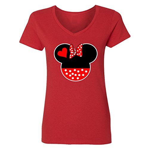 Falcon Minnie Head Disney Mother's Day V-Neck T-Shirts for -