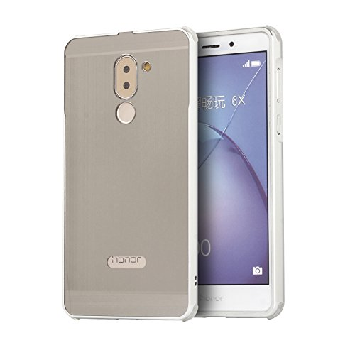 Aluminum Metal Frame Back Cover Case for Huawei Honor 6X (Silver) - 3