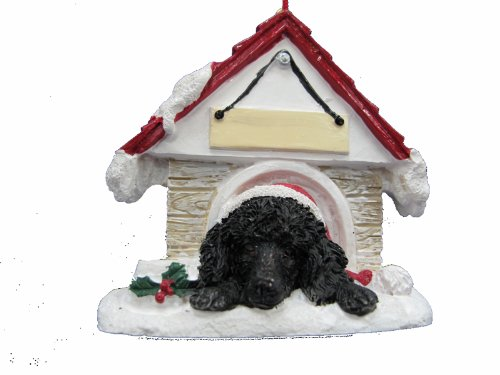 Poodle Ornament Black A Great Gift For Poodle Owners Hand Painted and Easily Personalized