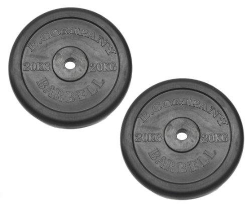 Hantelscheiben Gummi 30 31mm - 2 x 20,0 Kg Hantelscheiben