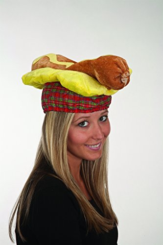 Jacobson Hat Company Novelty Plush Hot Dog Weiner Sausage Hat