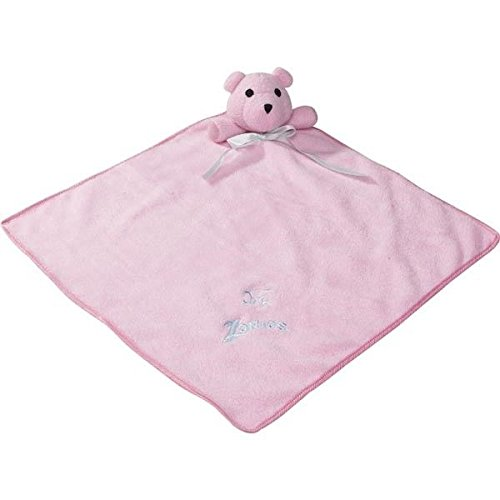 Snuggle Bear Blankets Toys for Dogs - Cute Soft Bear Blanket Dog Toy - Squeaks !(Princess Pink)