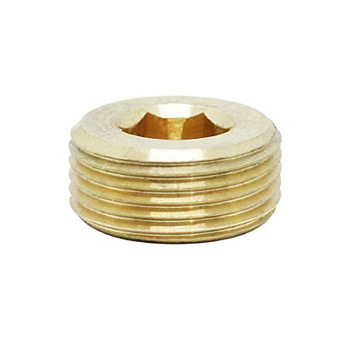 (1pc) BelMetric M22X1.5 Tapered Brass Plug Hex Socket Drive Corrosion Resistant DIN 906 for Machinery, Pipe and Fittings DP22X1.5TBRS ()