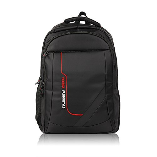 Travel Laptop Backpack, HuDieM Business Bags Anti Theft Durable Laptop Backpack, College School Computer Bag,Water Resistant Outdoor Backpack for Women and Men Fits 15.6 Inch Laptop and Notebook,Black