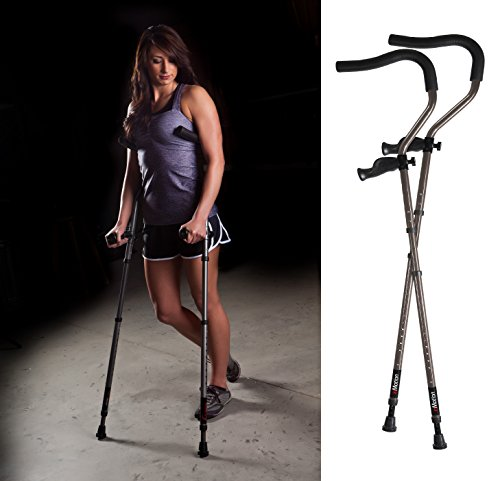 Millennial Medical in-Motion Pro Ergonomic Folding Crutch,...