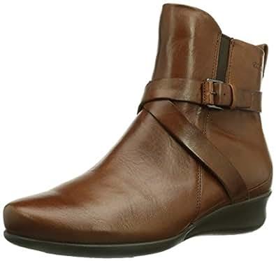 ECCO Women's Abelone Cross Buckle Boot,Mahogany,42 EU/11-11.5 M US