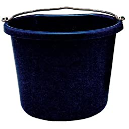 Fortiflex Flat Back Feed Bucket for Dogs/Cats and Small Animals, 20-Quart, Mango Green