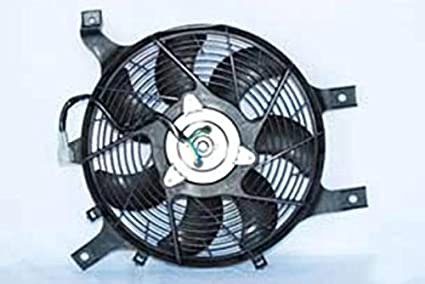 AC A//C Condenser Cooling Fan Assembly w// Motor for Nissan Frontier Xterra 3.3L