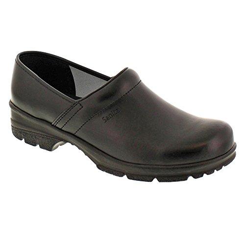 Leather Mens Clogs - Sanita Men's David Mule, Black, 44 EU/10-10.5 M US