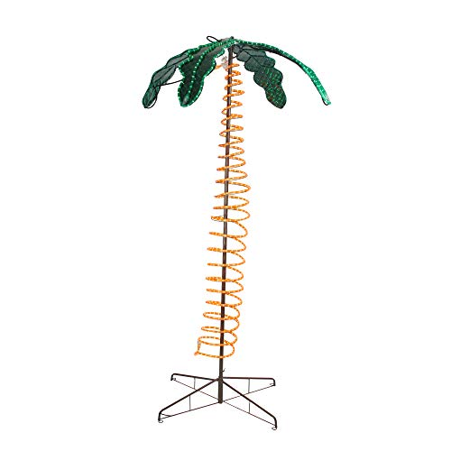 (Roman 7' Tropical Lighted Holographic Rope Light Outdoor Palm Tree)
