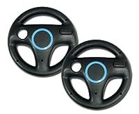 Rii Mario Kart Racing Wheel 2 Piece - Nintendo Wii, Black