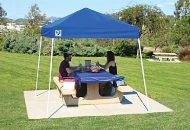 Cheap Sport Canopy, 8×8 x 102″ H, Blue