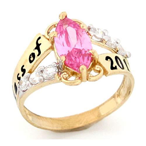 10k Gold Simulated October Birthstone 2019 Class Graduation - Tourmaline Set Gold Jewelry