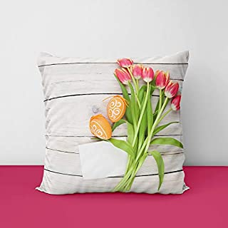 41v7bNabI9L. SS320 Easter Wood Eggs Template Greeting Square Design Printed Cushion Cover
